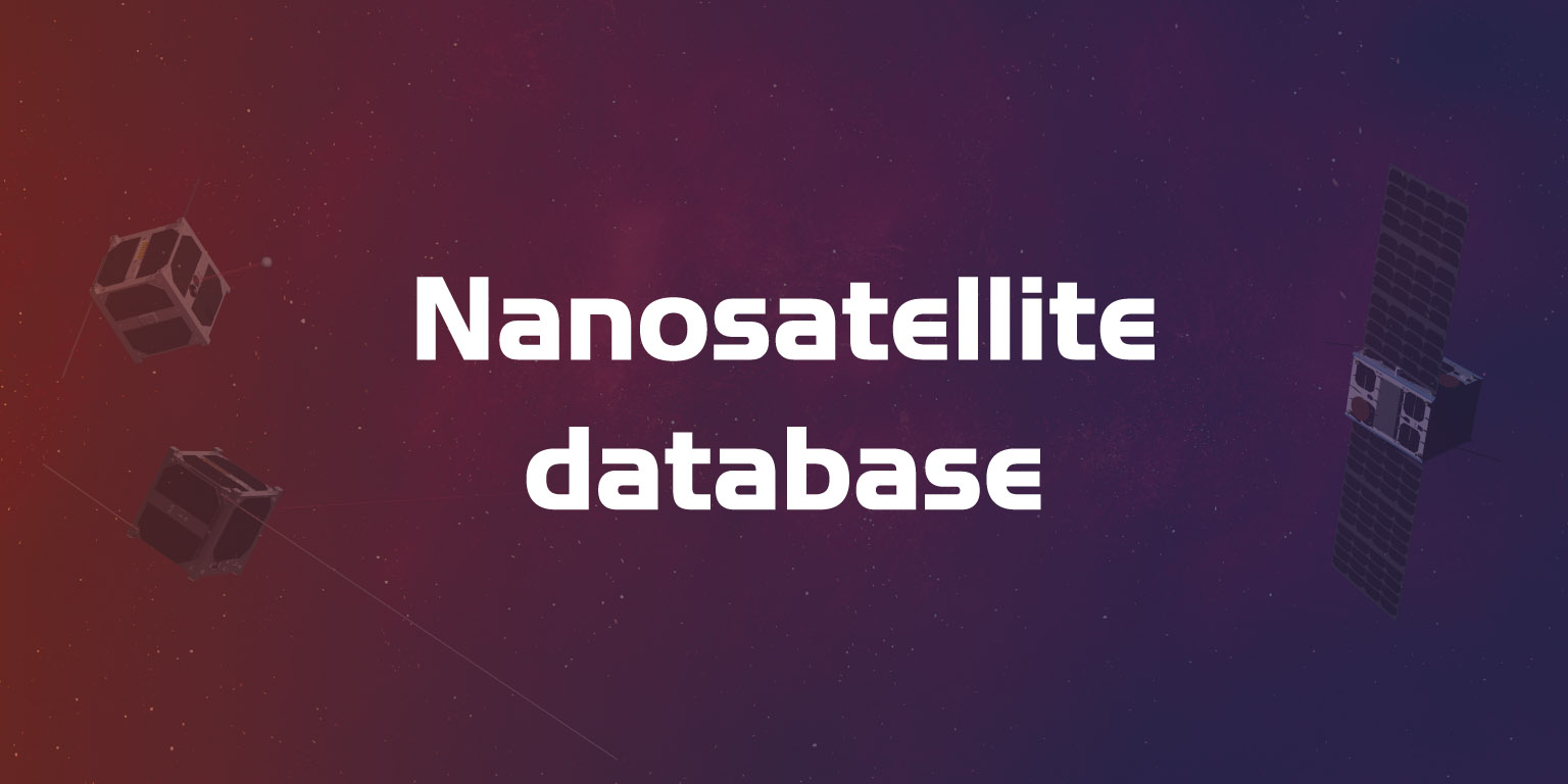 huge discount 4a76a 9fe9e Nanosatellite   CubeSat Database   Missions, constellations, companies,  technologies and more